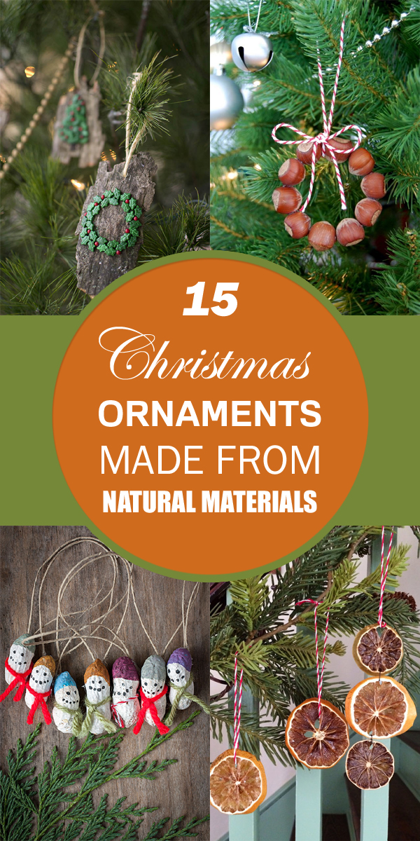 15 Christmas Ornaments Made From Natural Materials