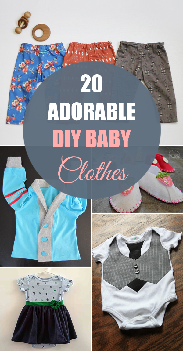 20 Adorable DIY Baby Clothes
