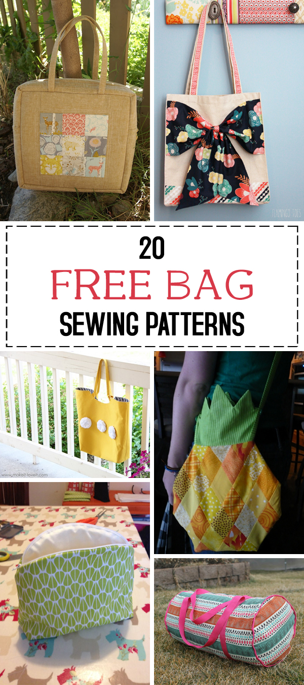 20 Free Bag Sewing Patterns