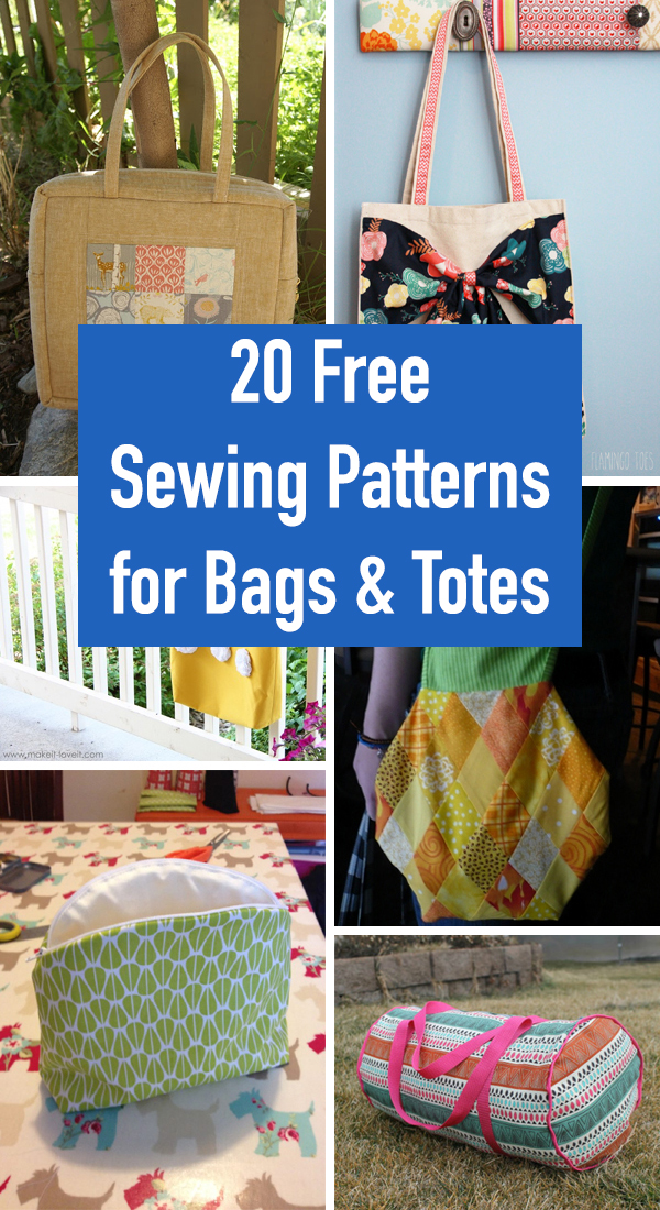 20 Free Sewing Patterns for Bags and Totes