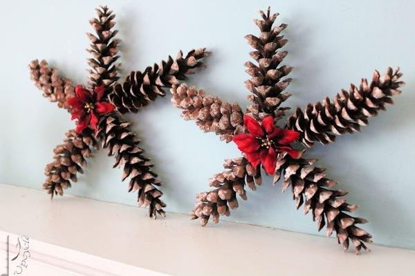 Pine cone Christmas stars
