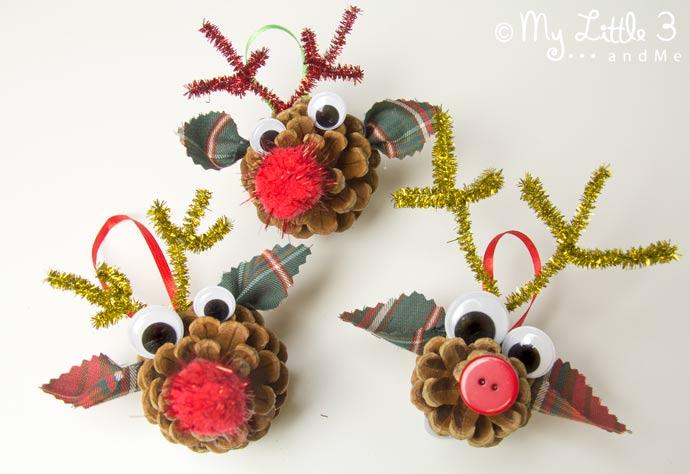 Pinecone Reindeers