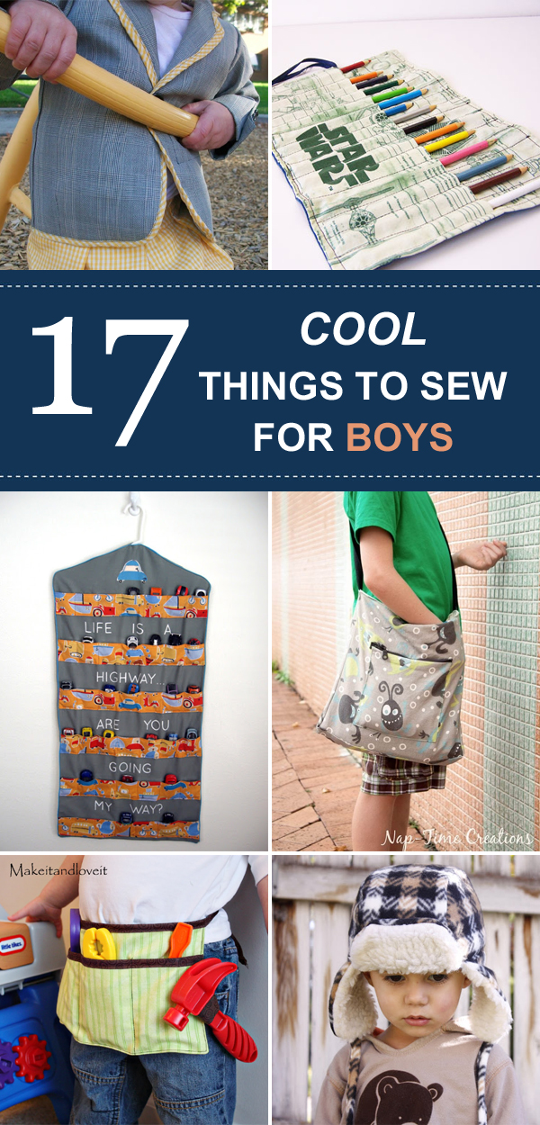 17 Cool Things To Sew For Boys