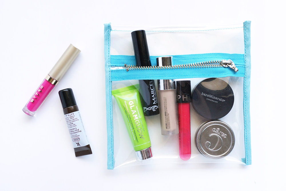 Clear Vinyl Zipper Bag