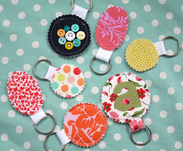 Fabric Scrap Keychains