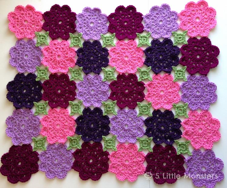 Flower Garden Crochet Blanket