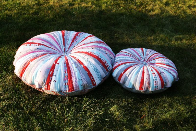 Jelly Roll Floor Pillows