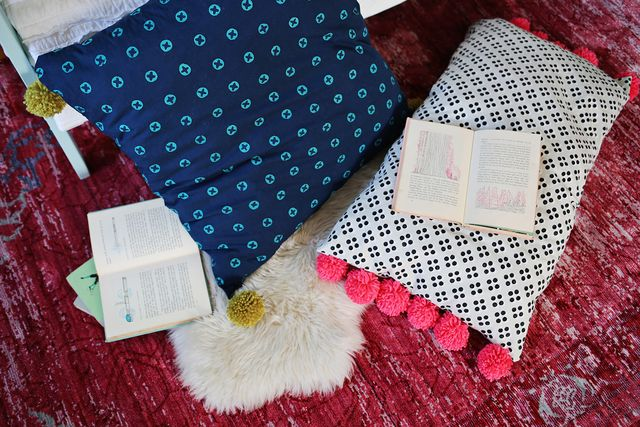 Pom Pom Floor Pillows