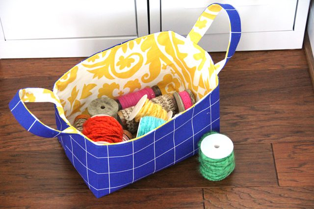 Reversible Fabric Storage Basket