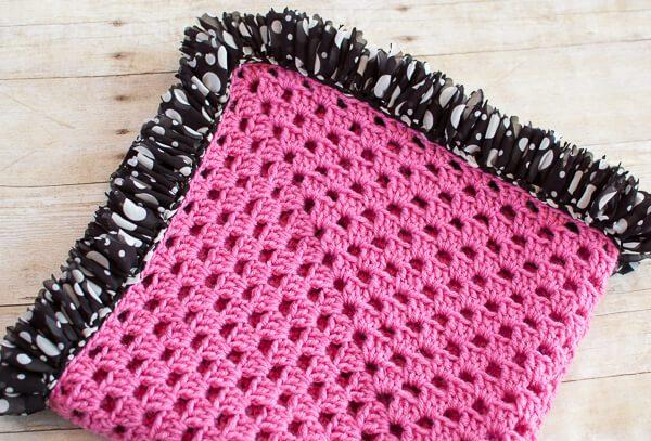 Ruffle Edged Crochet Baby Blanket