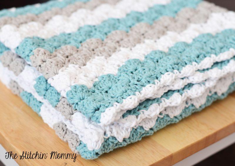 Sea Shell Stitch Baby Blanket