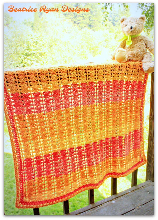 Sweet Sunset Baby Blanket