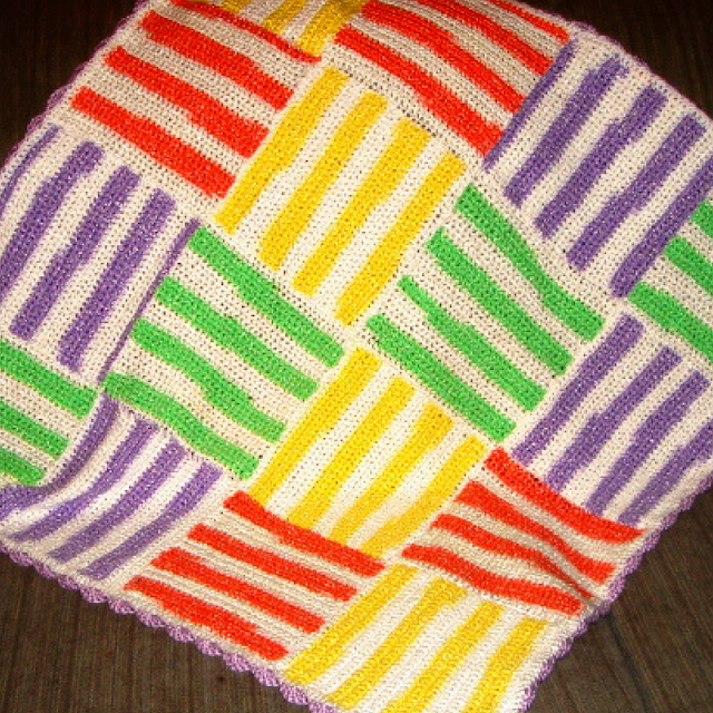 Vibrant Stripes Baby Blanket