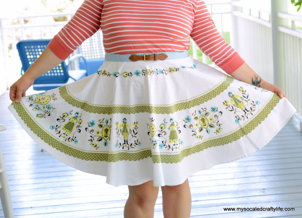 Vintage Tablecloth Circle Skirt