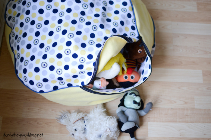 Floor Cushion with Hidden Storage