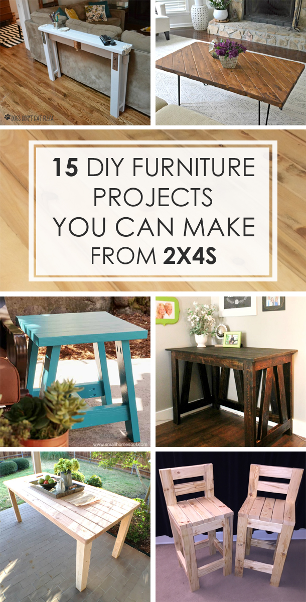 15 DIY Furniture Projects You Can Make From 2×4s