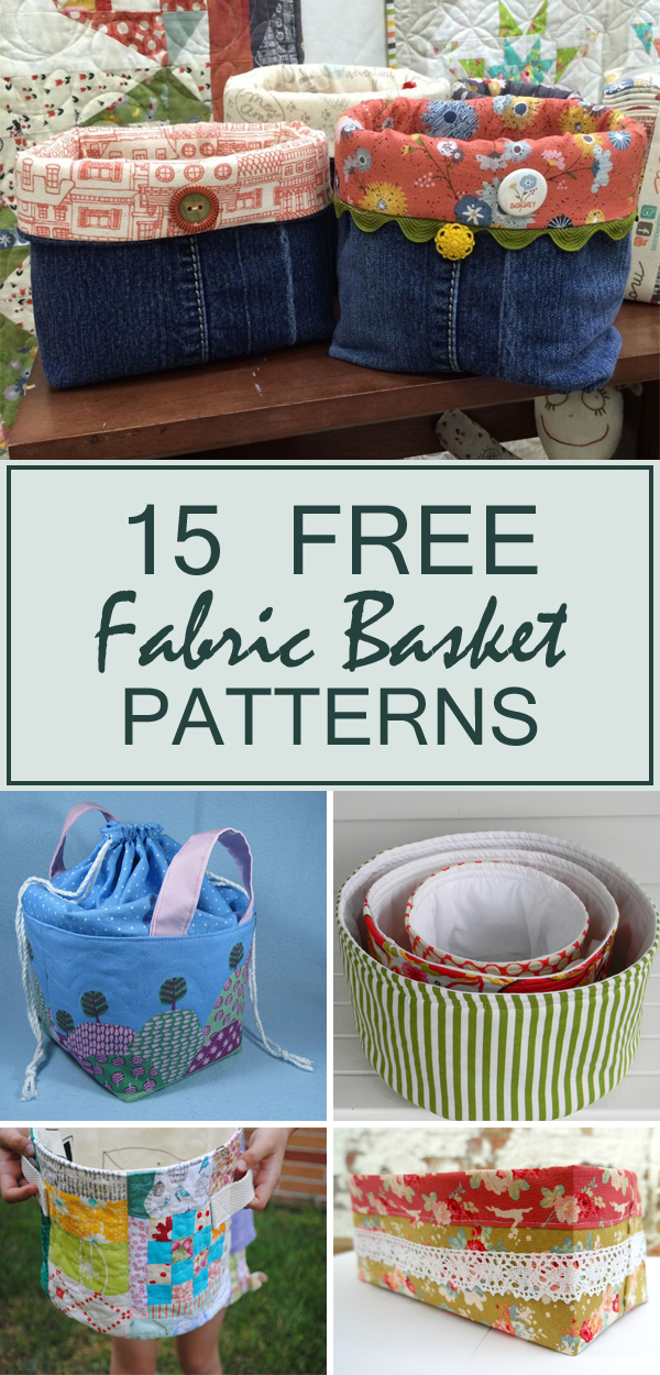 15 Free Fabric Basket Patterns To Organize Your Home