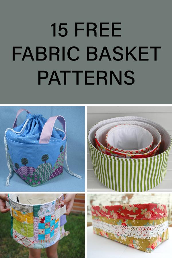 15 Free Fabric Basket Patterns