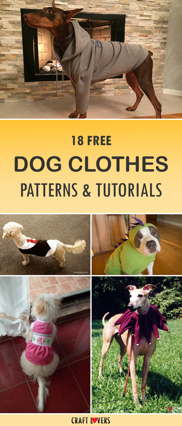 18 Free Dog Clothes Patterns and Tutorials
