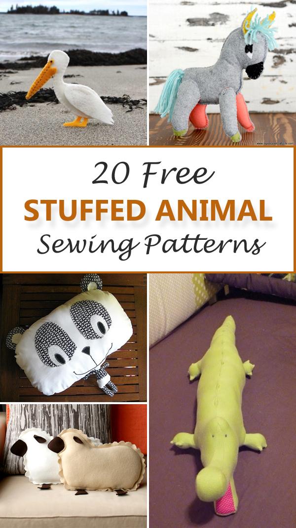 20 Free Stuffed Animal Sewing Patterns