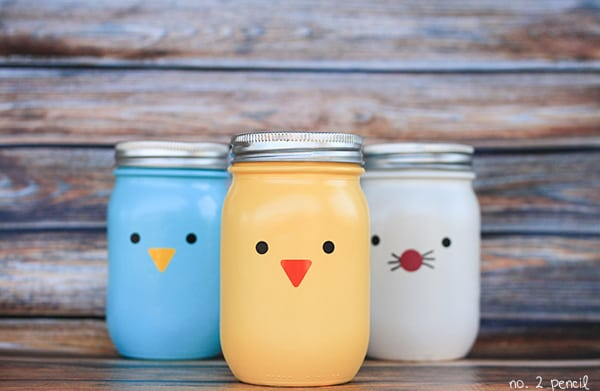 Animal Themed Mason Jars