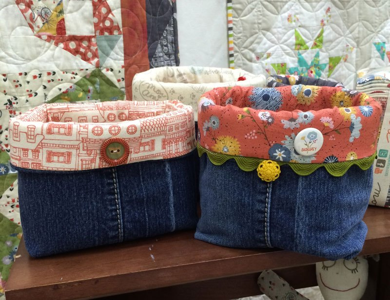 Denim Fabric Basket