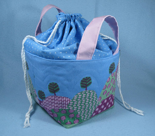Fabric Basket with Drawstring Top