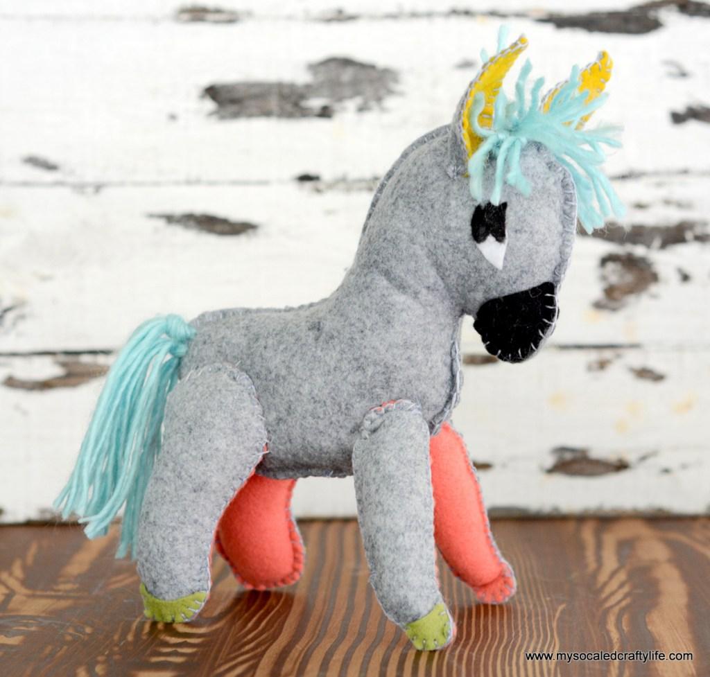 Vintage Stuffed Donkey Plushie