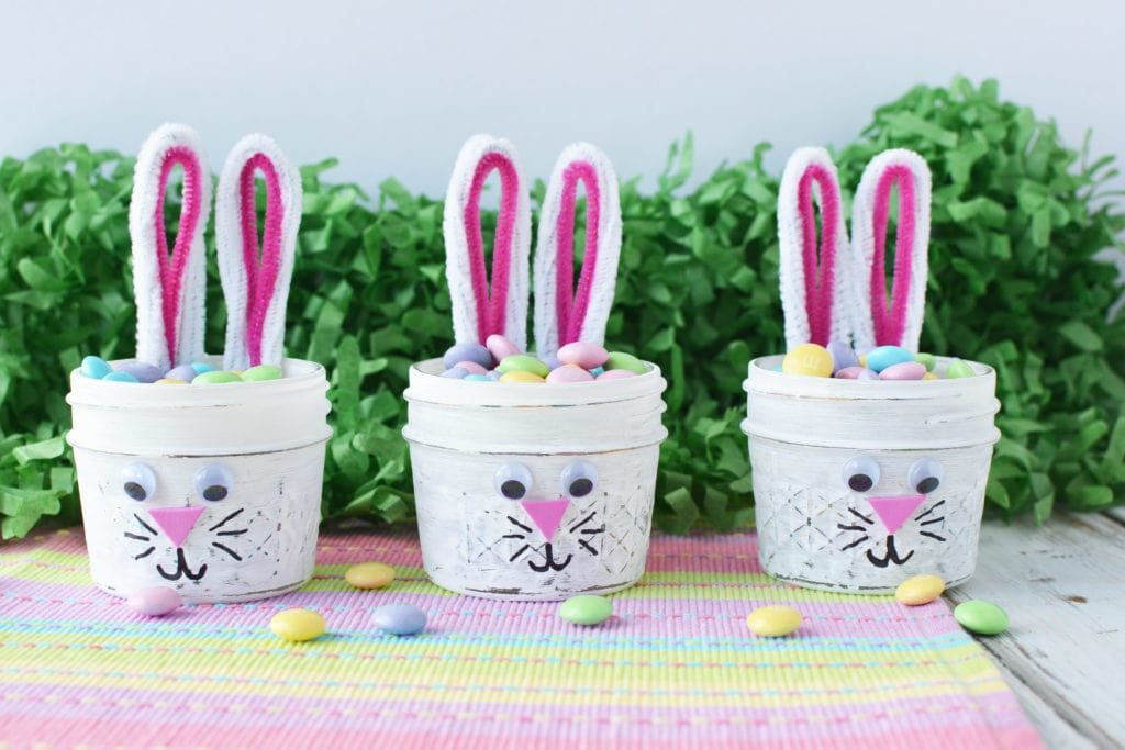 Mini Mason Jar Bunnies