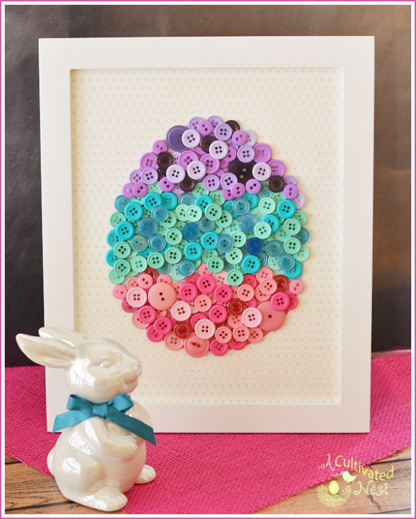 Button Easter Egg Art