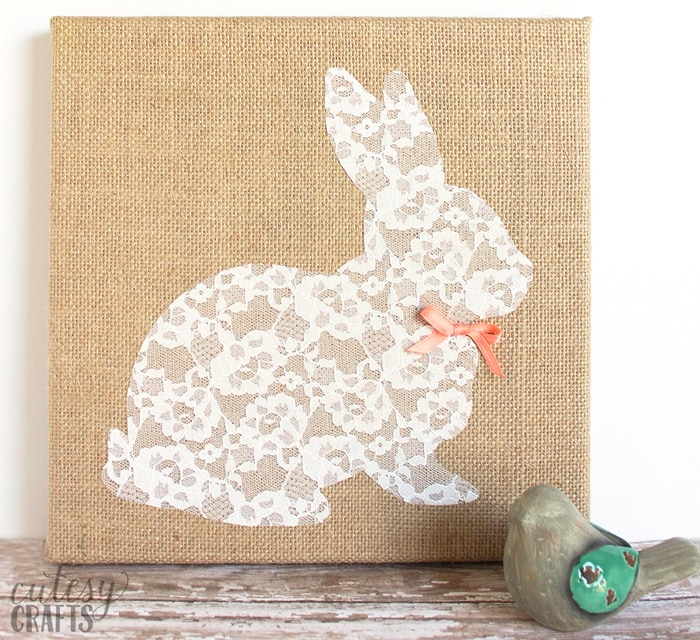 Lace Bunny Canvas