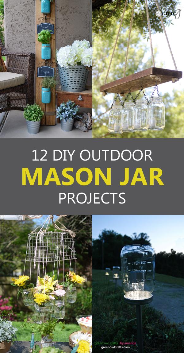 12 DIY Outdoor Mason Jar Projects