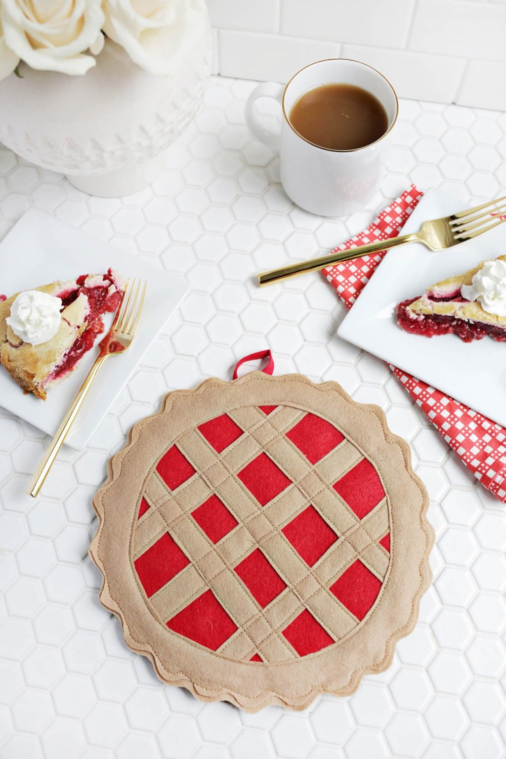 Cherry Pie Potholder