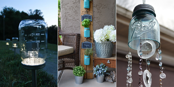 DIY Outdoor Mason Jar Projects
