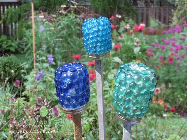Garden Art Treasure Jars
