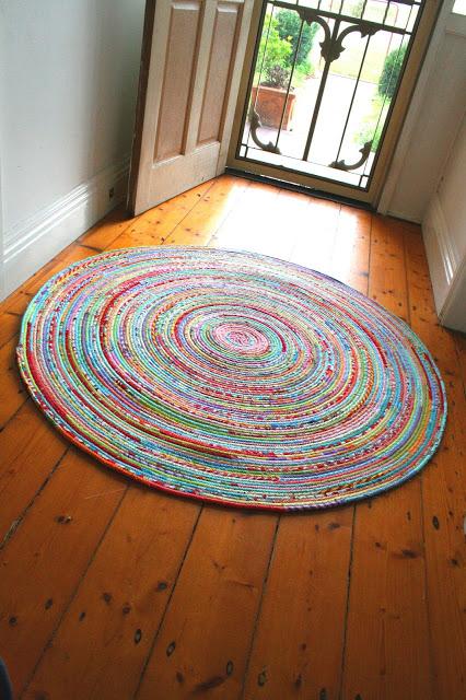 Fabric Circle Rug
