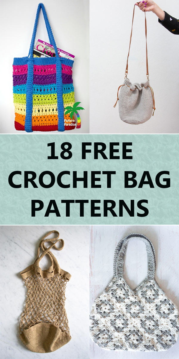 18 Free Crochet Bag Patterns You'll Love