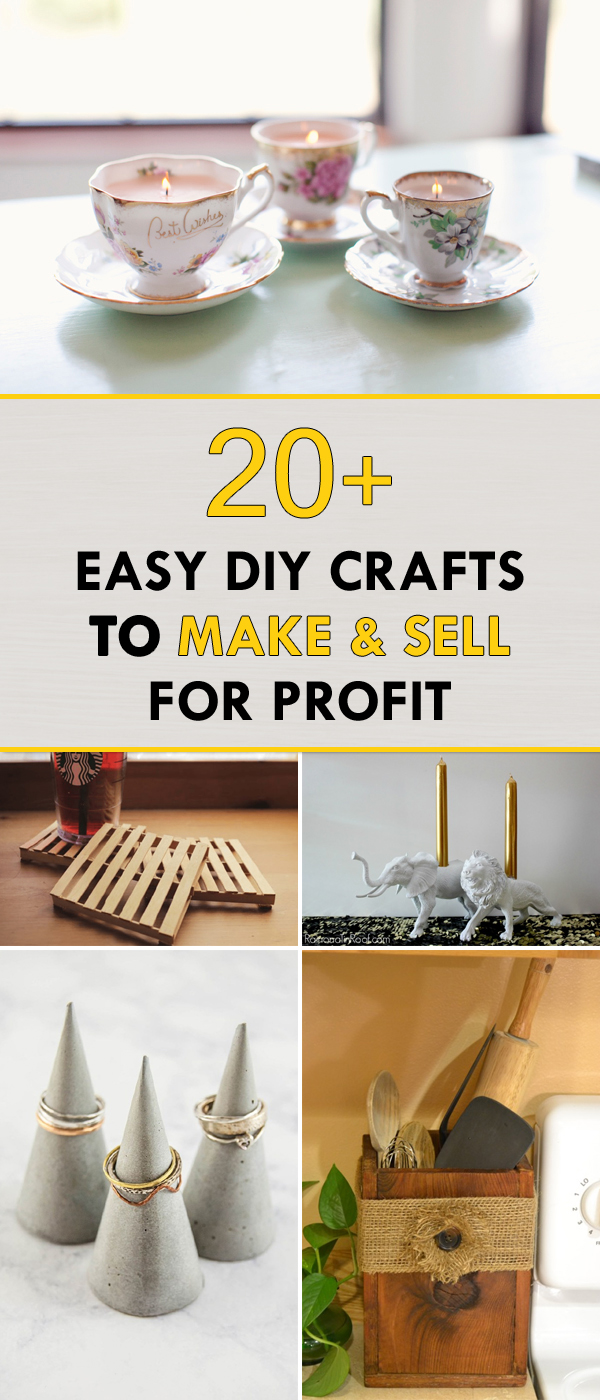 20+ Easy DIY Crafts to Make and Sell for Profit