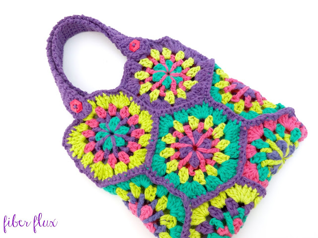 Colorful Hexagon Crochet Bag Pattern