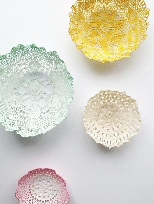 Lace Doily Bowls