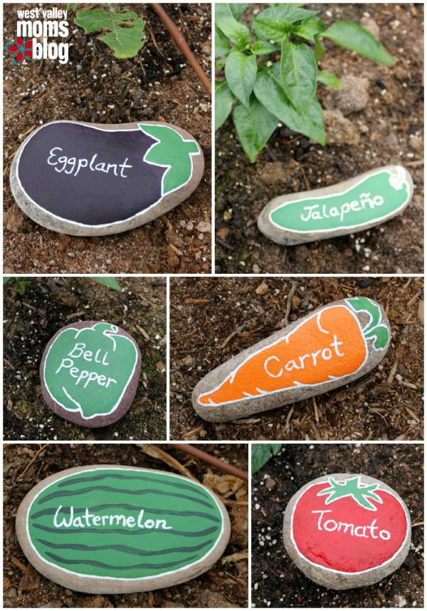 Painted River Rock Garden Markers