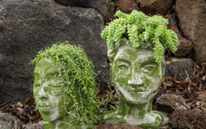 Concrete Head Planters