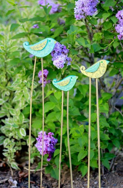 Garden Bird Stakes