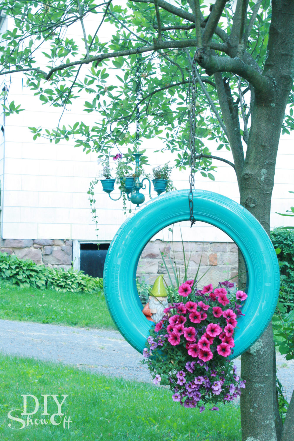 Tire Flower Planter