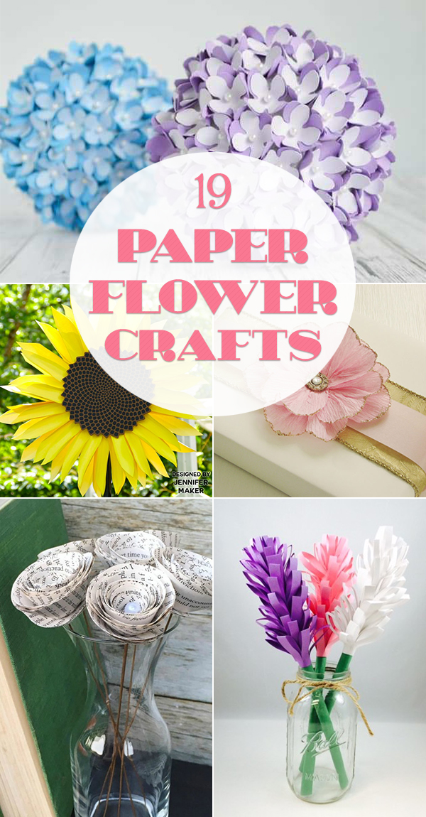 19 Beautiful Paper Flower Crafts