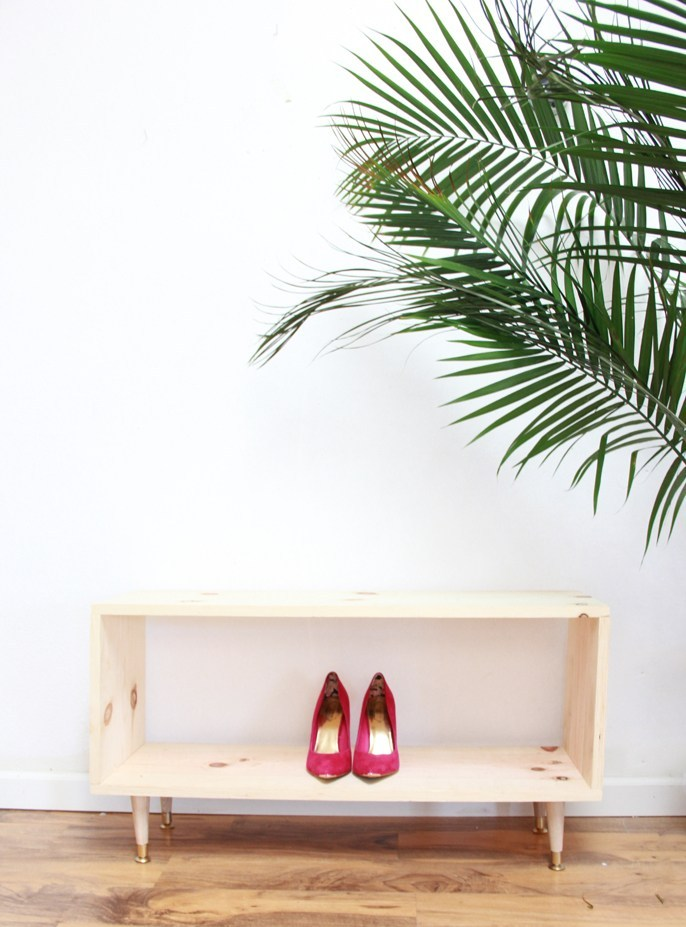 Minimalist Wooden Shoe Rack