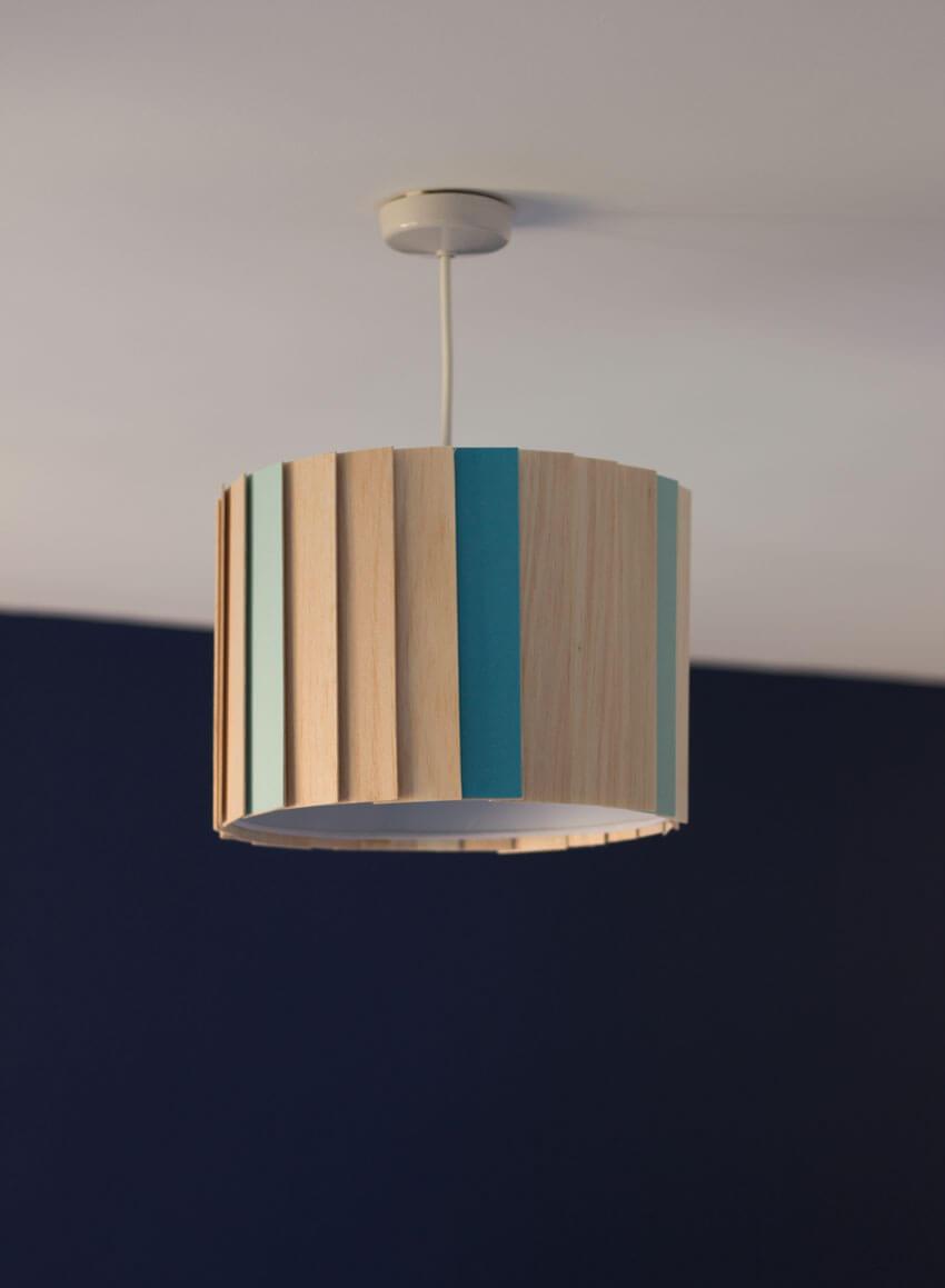 Scandinavian-Style DIY Wooden Lampshade