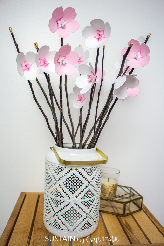 Sweet Cherry Blossom Paper Flowers