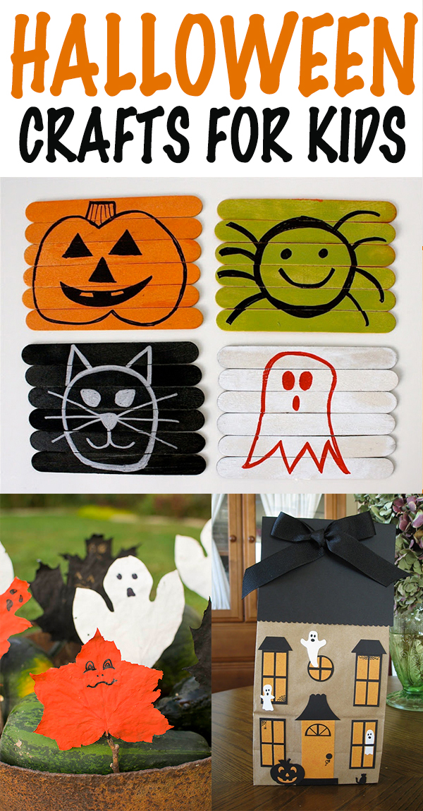 25 Easy & Cool Halloween Crafts for Kids