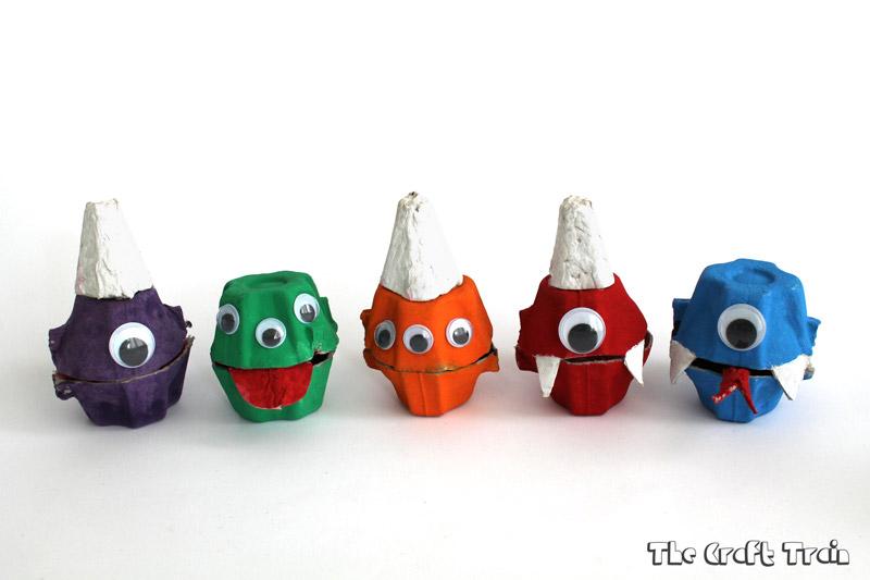 Egg Carton Monsters